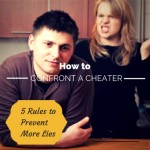 how to confront a cheating partner
