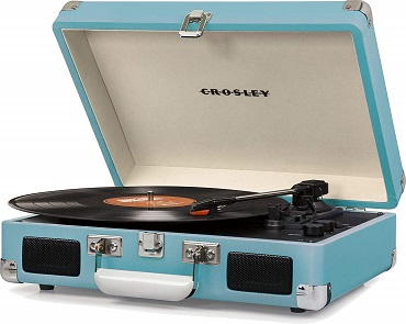 vintage suitcase turntable gift for anniversary